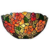 Bieye L30606 6 Zoll Rose Tiffany-Stil Glasmalerei Wandleuchte Lampe Leuchte