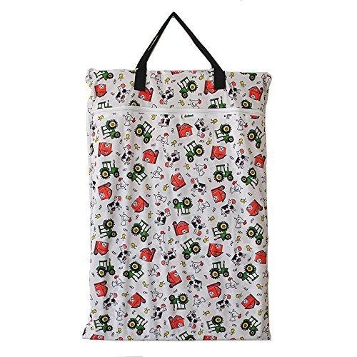Groß zum Aufhängen Nass/Trocken Tuch Windel, die Sie Tasche für Wiederverwendbare Windeln oder Wäschebox Farm