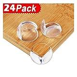 Eckenschutz, Kantenschutz Zindoo 24 Stück Transparent Geruchlos Für Scharfe Möbel Ecken Tischschutz, Schützen Sie die Sicherheit von Babys, Kinder und Eltern
