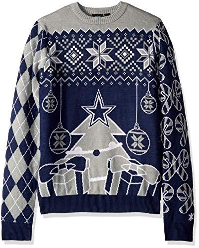 FOCO NFL Herren-Pullover mit Weihnachtsbaum und Ornamenten, Herren, SWTNFSMUUGYHOL, Team Color, Medium