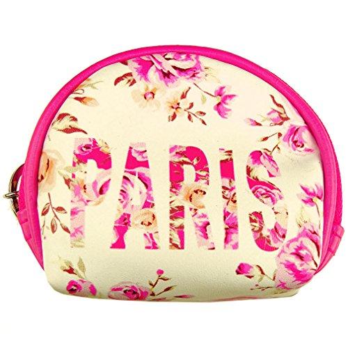 Porte-monnaie 'Paris Fleuri' Robin Ruth - Blanc