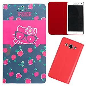 DooDa - For Samsung Galaxy E5 PU Leather Designer Fashionable Fancy Flip Case Cover Pouch With Smooth Inner Velvet