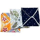 SHOP BY ROOM Cotton Roti Cover/Roti Napkin/Bread Bin - Set of 3 (Multicolor)