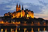 Cuadro sobre lienzo 60 x 40 cm: Albrechtsburg in Meissen at night, Saxony, Germany, Europe de Michael Runkel / Robert Harding - cuadro terminado, cuadro sobre bastidor, lámina terminada sobre lienz...