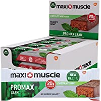 Maximuscle Promax Lean High Protein Bar, Chocolate Mint Flavour, 60 g, Pack of 12