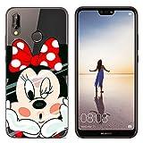 IMCASE Funda Silicona Huawei P20 Lite, Carcasas Slim Suave Impresionante Dibujos Shockproof Anti-Rasguños Protectora Cover Case para Huawei P20 Lite - Niña