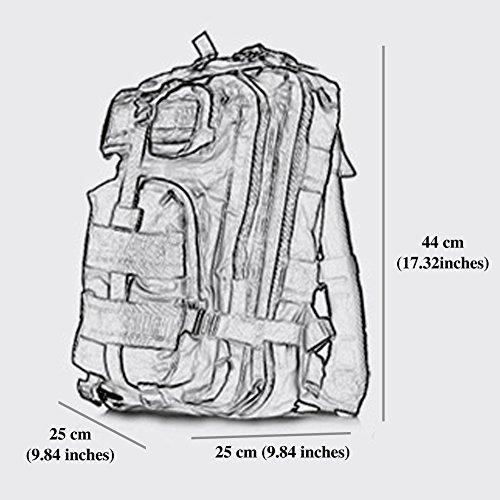 Pizz Annu-Outdoor Tactical Rucksack Sport Camouflage Tasche für Camping Reisen Wandern Trekking khaki