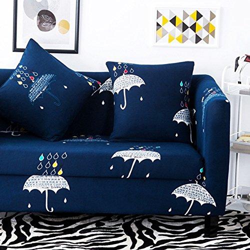 HYDBFKJUBVFU Gedruckt fit Stretch Sofa slipcovers,Europäische Sofa volle Deckung für Vier Jahreszeiten Wohnzimmer möbel beschützer für 1 2 3 4 Kissen Sofa-S Loveseats (Slipcover Loveseat Sofa)