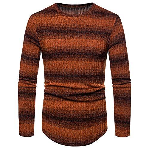 qulvyushangmaobu Herren Basic Rundhals Pullover Pullover Langer Pullover Herren Pure Color Sweatshirt Pullover Pullover Arbeit Casual Top