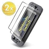UTECTION 2X Verre Trempé Compatible avec Nintendo Switch 2017 Protecteur d'écran en 9H ** Résistant aux Rayures ** Installation sans Bulles ** Couverture complète ** Film Protection écran Clair