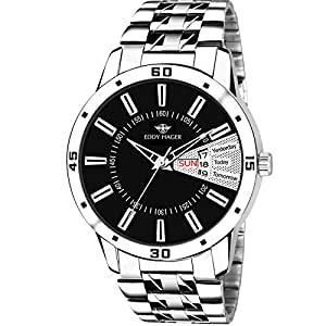 Eddy Hager Day and Date Men's Watch EH-238 (Black)
