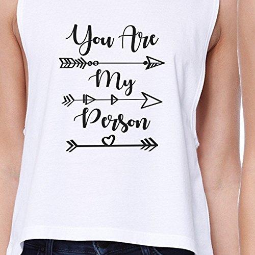365 Printing -  T-shirt - Senza maniche  - Donna You Are My Person - White