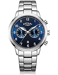 Rotary Herren-Armbanduhr Chronograph Quarz Edelstahl - GB00338/05
