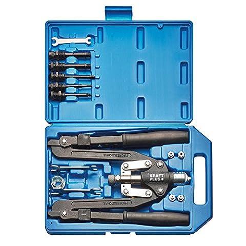 KRAFTPLUS® K.105-2401 Jeu de pince manches longues à riveter rivets