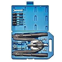 KRAFTPLUS® K.105-2401 Jeu de pince manches longues à riveter rivets aluminium acier et écrous aveugles bras pliables 14 pièces