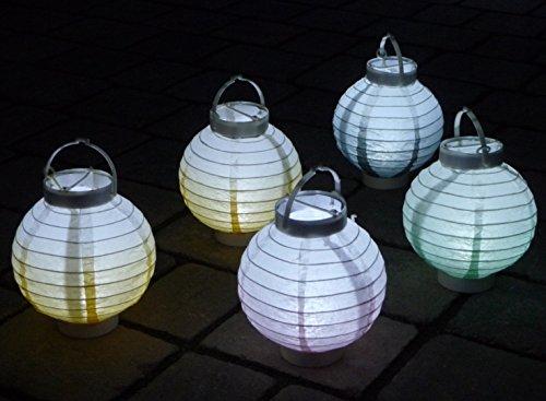 Garten Laterne mit LED 5-farbig sortiert
