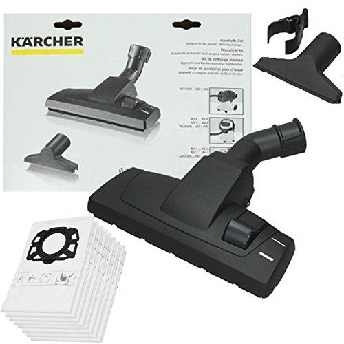 spares2go Boden Bürste Accessory Kit & 8Staub Staubbeutel für Kärcher WD4WD5WD6Staubsauger (8 Beutel-kit)