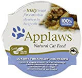 Applaws Cat Pot Luxury Tuna Fillet with Prawn, Pack of 10
