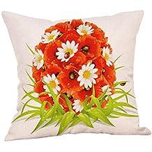BBestseller Funda de Almohada de Pascua,extraíble y Lavable Pillow Case Imprimiendo Cojines para Sofas