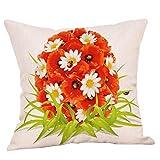 BBestseller Funda de Almohada de Pascua,extraíble y Lavable Pillow Case Imprimiendo Cojines para Sofas Almohadas Decorativas (45cm*45cm, D)