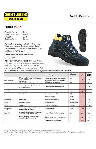 Chaussures de sécurité montantes Safety Jogger Orion S1P SRC Bleu