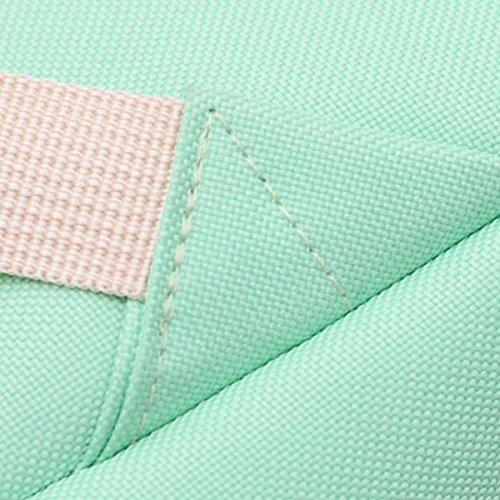 Neue Segeltuch-Normallack-Schulter-Beutel-einfacher Hochschulart-Rucksack Retro- Jungen-und Mädchen-Kursteilnehmer-Satz,Pink Blue