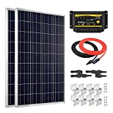 Giosolar 200 W Solar Panel Hohe Effizienz Poly Solar PV PANEL mit 20 A LED Charge Controller für Wohnmobil, Wohnwagen, Wohnmobil, Boot/Yacht