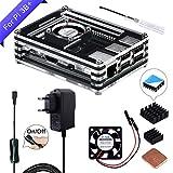 GeeekPi para Raspberry Pi 3 B + Caja, Raspberry Pi Ventilador, Raspberry Pi...