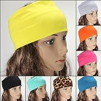 Yoga Tanz Sport Stretch Stirnband Haarband Haar Turban Damen farbig
