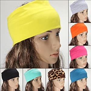 Yoga Tanz Sport Stretch Stirnband Haarband Haar Turban Damen farbig