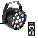 Lixada LED Etapa PAR Luz con Control Remoto RGBW Strobe DMX512 15W 8 canales AC 100-240V