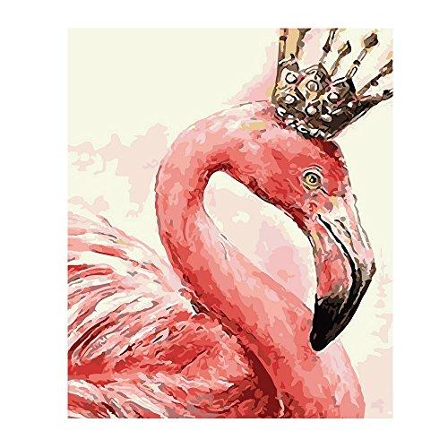 de Paintworks Malen nach Anzahl Bunt für Kinder und Erwachsene Flamingos Prinzessin Crown (Diy Prinzessin Crown)