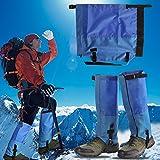 1paio ghette impermeabili per esterni Walking climbing Snow Legging ghette gamba copertura protegge da viaggio ultra leggero e antistrappo traspirante stivali custode per caccia di campeggio escursionismo arrampicata Guard, Blue