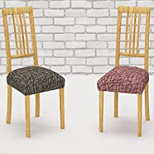 Pack de 2 Fundas de Asiento para Silla Modelo CORINTO, Color MARRÓN C/3, Medida 40-50cm asiento