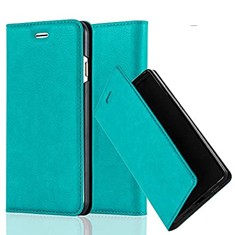 Cadorabo - Book Style Wallet with Stand Function for Apple iPhone 6 / 6S with Card Slot and invisible Magnetic Closure - Etui Case Cover Protection in PETROL-TURQUOISE