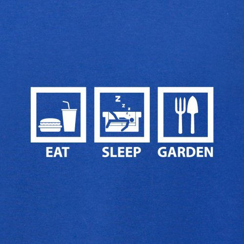 Eat Sleep Garden - Herren T-Shirt - 13 Farben Royalblau