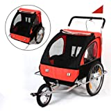 SAMAX / 56640011 Remorque buggy pour vélo/jogging Rouge/Noir