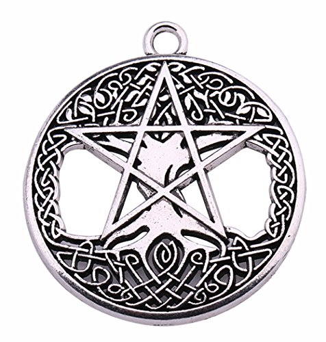 Lemegeton Pagan Celtic Knot Tree of Life Yggdrasil Pentagram Talisman Pendant for Jewelry Making