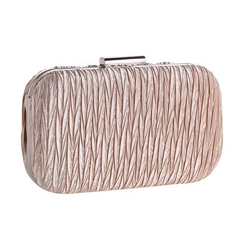 KFRSQ UmhäNgetasche Damen Handtasche Uhr Handtaschen Taschen Tasche Kupplungen EuropäIsche Und Amerikanische Abendessen Einfach Plissiert New Fest Weibliche Hard Shell Pouch -