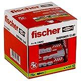 Fischer 25 Tasselli Duopower, 12 x 60 mm, per Muro pieno, Mattone Forato, Cartongesso, 538243