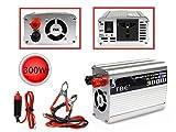 Vetrineinrete® Inverter 300 watt di potenza 12V a 220V per auto caricabatterie convertitore di tensione trasformatore portatile per camper converter da viaggio C56