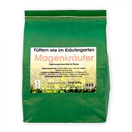 Natusat Kräutermischung Magenkräuter 1000 g - Für Pferde - Mit Kamille, Pfefferminze, Fenchel..... - Kamille Kraut