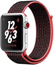 Mifan Official Nylon Loop Band for Apple Watch 44mm/42mm Series 1/2/3/4 Premium Strap Replacement Mesh Soft Breathable Woven