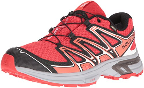 Salomon L39066600, Zapatillas de Trail Running para Mujer, Rojo (Infrared / Light Onix / Coral Punch), 38