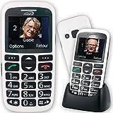 Mobiho-Essentiel le CLASSIC INITIAL BLANC - Téléphone complet senior. Le seul appareil réunissant toutes les solutions : audition, vision, préhension, dextérité, fausses manip. DEBLOQUE TOUT OPERATEUR