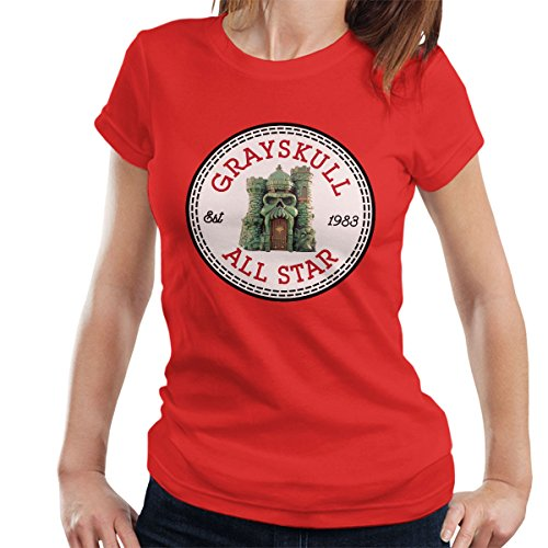 Castle Grayskull He Man All Star Converse Logo Women's T-Shirt Red
