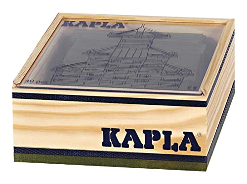 Kapla 9000155 Holzplättchen 40-teilig in Box, Grün