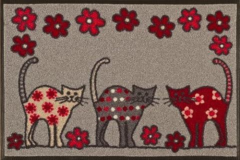 wash + dry - Tapis Cat Parade 50x75, Coloré