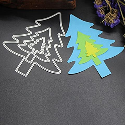 Xshuai® Merry Christmas Metal Cutting Dies Stencils Scrapbooking Embossing DIY Crafts for Embossing Lessons Party Decoration