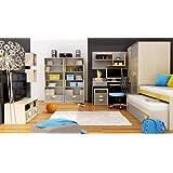 Habitación de los Niños Dormitorio Juvenil Completo Pik POK 05(7piezas.) Roble Color Crema/gris Children Room/Furniture
